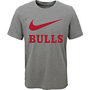 Nike Youth Chicago Bulls Dri-FIT Legend Grey T-Shirt