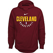 Nike Youth Cleveland Cavaliers Therma-FIT Burgundy Practice Performance Hoodie