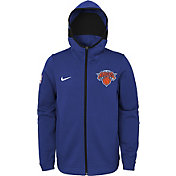 Nike Youth New York Knicks On-Court Royal Dri-FIT Showtime Full-Zip Hoodie