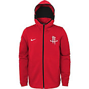 Nike Youth Houston Rockets On-Court Red Dri-FIT Showtime Full-Zip Hoodie