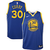Nike Youth Golden State Warriors Stephen Curry #30 Royal Dri-FIT Swingman Jersey