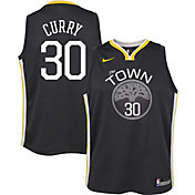 Nike Youth Golden State Warriors Stephen Curry #30 Grey Statement Dri-FIT Swingman Jersey
