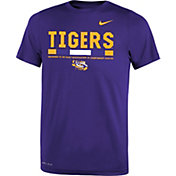 Nike Youth LSU Tigers Purple Football Staff Legend T-Shirt