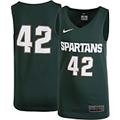 Nike Youth Michigan State Spartans Green #42 Replica Basketball Jersey