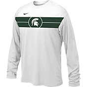 Nike Youth Michigan State Spartans Basketball Legend White Long Sleeve T-Shirt