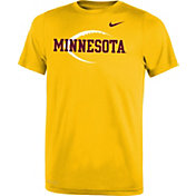 Nike Youth Minnesota Golden Gophers Gold Football Icon Legend T-Shirt