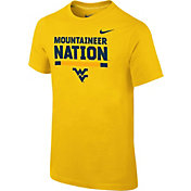 Nike Youth West Virginia Mountaineers Gold Local Verbiage T-Shirt