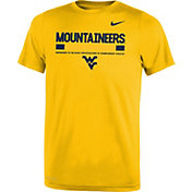 Nike Youth West Virginia Mountaineers Gold Football Staff Legend T-Shirt