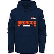 Nike Youth Denver Broncos Therma-FIT Navy Performance Pullover Hoodie