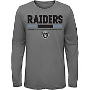Nike Youth Oakland Raiders Legend Staff Grey Performance Long Sleeve Shirt