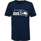 Nike Youth Seattle Seahawks Legend Logo Navy Performance T-Shirt