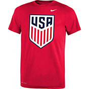 Nike Youth USA Legend Crest Red Performance T-Shirt