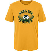 NFL Team Apparel Boys' Green Bay Packers Satellite Gold T-Shirt