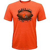 NFL Team Apparel Youth Cleveland Browns Satellite Orange T-Shirt