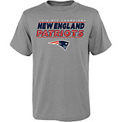 NFL Team Apparel Youth AFC Champions New England Patriots Leveled Up T-Shirt