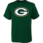 NFL Team Apparel Youth Green Bay Packers Logo Green T-Shirt