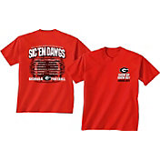 New World Graphics Men's Georgia Bulldogs Red 2017 Football Schedule T-Shirt