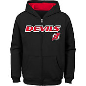 NHL Youth New Jersey Devils Stated Black Full-Zip Hoodie
