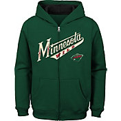 NHL Youth Minnesota Wild Stated Green Full-Zip Hoodie