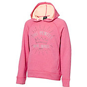 Reebok Girls' Performance Fleece This Princess Wears Sneakers Graphic Hoodie