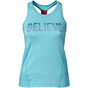 Reebok Girls' Elastic Back Believe Graphic Tank Top