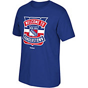 Reebok Men's New York Rangers Logo Royal T-Shirt