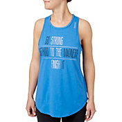 Reebok Women's Strong To The Finish Graphic High Neck Tank Top