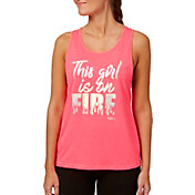 Reebok Women's Open Back Heather Graphic Tank Top