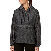 Reebok Women's Printed Woven Half Zip Jacket
