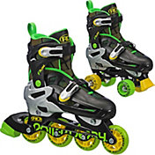 Roller Derby Boys' Flux Adjustable 2-in-1 Inline and Quad Combo Skates