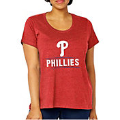 Soft As A Grape Women's Philadelphia Phillies Tri-Blend Crew T-Shirt