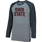 Scarlet & Gray Men's Ohio State Buckeyes Gray AAA Long Sleeve Raglan Shirt