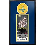 That's My Ticket 2017 NBA Finals Champions Golden State Warriors Single Ticket Frame