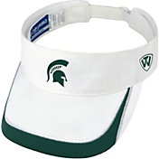 Top of the World Men's Michigan State Spartans White Teed Off Visor