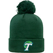 Top of the World Men's Tulane Green Wave Olive Pom Knit Beanie