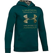 Under Armour Boys' Rival Camo Fill Logo Hoodie