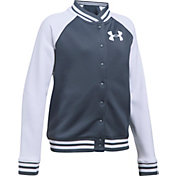 Under Armour Girls' Armour Fleece Graphic Bomber Jacket