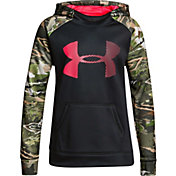 Under Armour Girls' Armour Fleece Camo Blocked Hoodie