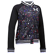 Under Armour Girls' Printed Armour Fleece Bomber Jacket