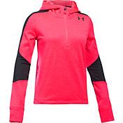 Under Armour Girls' ColdGear Reactor Fitted 1/2 Zip Long Sleeve T-Shirt