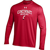 Under Armour Men's Cincinnati Bearcats Red Long Sleeve Tech T-Shirt