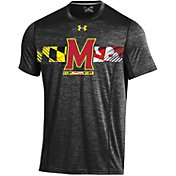 Under Armour Men's Maryland Terrapins Black Football Sideline Training T-Shirt