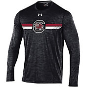Under Armour Men's South Carolina Gamecocks Black Football Sideline Training Long Sleeve Shirt