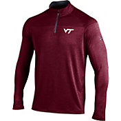 Under Armour Men's Virginia Tech Hokies Maroon UA Tech Tonal Twist Quarter-Zip Shirt