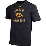 Under Armour Men's Iowa Hawkeyes Black Tri-Blend T-Shirt