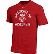 Under Armour Men's Wisconsin Badgers Red Tri-Blend Performance T-Shirt