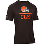 Under Armour NFL Combine Authentic Men's Cleveland Browns Lockup Logo Tech Brown T-Shirt