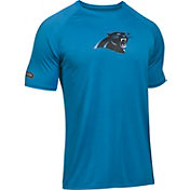 Under Armour NFL Combine Authentic Men's Carolina Panthers Logo Blue Tech Performance T-Shirt