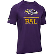 Under Armour NFL Combine Authentic Men's Baltimore Ravens Lockup Logo Tech Purple T-Shirt