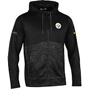Under Armour NFL Combine Authentic Men's Pittsburgh Steelers Armour Fleece Black Full-Zip Hoodie